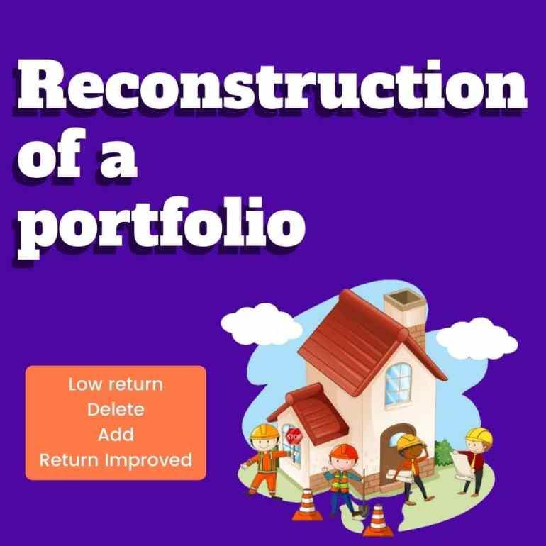 reconstruction of a portfolio